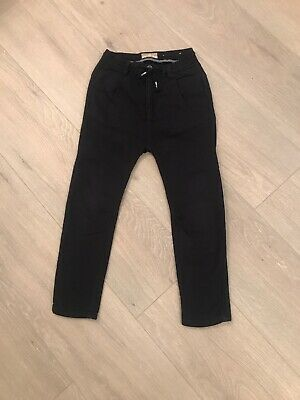 Boys Zara Drop Crouch Navy Casual Trousers Age 7 Years