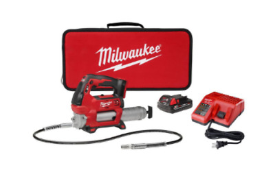 MILWAUKEE CORDLESS GREASE GUN 18-Volt Charger Battery and Case Included New