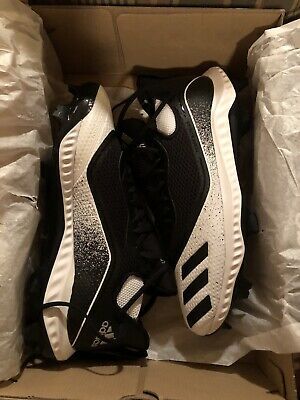 Men's Adidas Icon V Bounce Baseball Cleats, Black, Size 11 Or 11.5