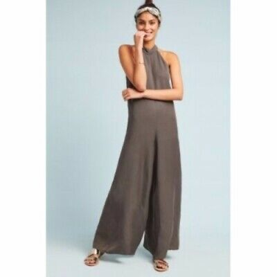 Anthropologie Cloth And Stone Marfa Jumpsuit Brown Xs Petite