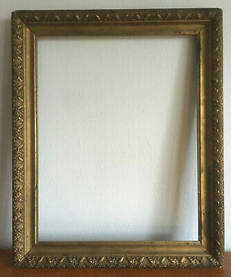 """Arts Crafts/Aesthetic Movement SPIDERWEB Gilt Gesso Wood Picture Frame 14"""" x 11"""""""
