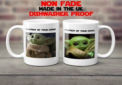 Baby Yoda Mug Personalised custom Coffee tea cup gift funny cute birthday love