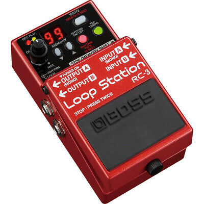 BOSS RC-3 Loop Station Guitar Effects Pedal w/ 99 Memory Presets & Rhythm Guide