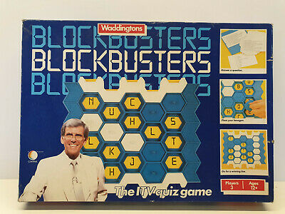Blockbusters ITV Board Game Vintage By Waddingtons Orginal Retro Family Games