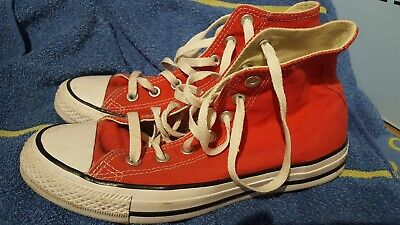 Red high top converse size 6
