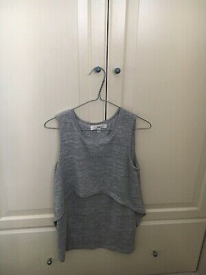 RIPE MATERNITY Swing Back Maternity & Nursing Top - XS Grey. Excellent Condition
