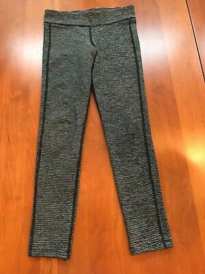 Girls Old Navy Active Size M (8) black & gray full length tights