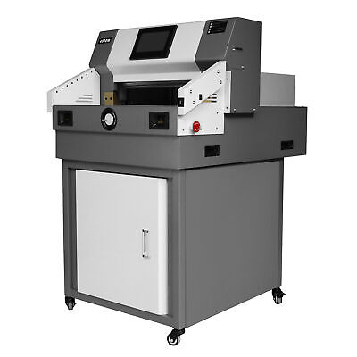 """19.3"""" 490mm Programmable Paper Guillotine Cutter Stack Cutting Machine LCD US"""