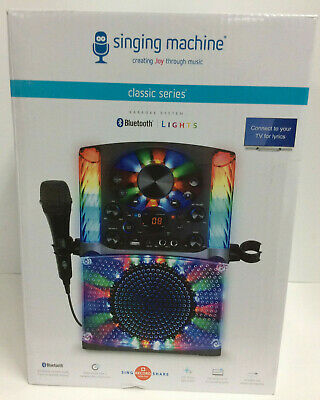Karaoke Bluetooth System Singing Machine Microphone Kids LED Display USB CD+G