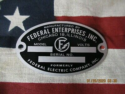 Federal Enterprise Replacement Badge Models 66 67 76 77 78 C6 C5 and Early Q