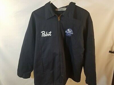 2XL Pabst PBR Work Beer Delivery Guy Jacket Embroidered front with Backpatch
