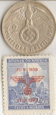 """#-11-F)-*free WW2- *german"""" PW""""-Solder card in FRANCE camp+STAMP+king """"TUT""""coin"""