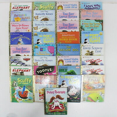 Collection of 33 Collectible Little Golden Books Fiction Children's Books #309