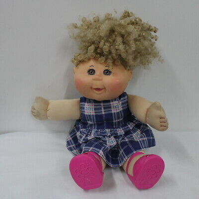 1995 Cabbage Patch Doll Blonde Curly Hair Brown Eyes Purple Signature #552