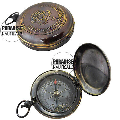 Nautical Brass Directional Compass Black For Decoration & Cosplay Decor