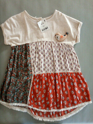 BNWT NEW NEXT girl 2-3 years bird flower design tunica dress