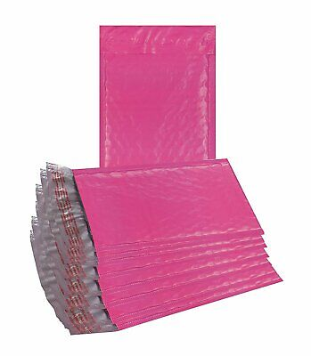 25 Pack Poly Bubble mailers 6x9. Hot Pink Padded envelopes Cushion shipping bags