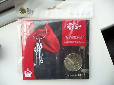 Royal Mint 2019 Ceremony Of The Keys BU £5 From The Tower Of London Coin Set New