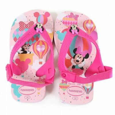 Havaianas Disney Minnie Mouse Baby Kids Pink Flip Flop Sandals Shoe All Sizes