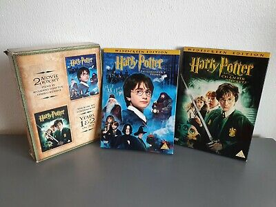 HARRY POTTER. FIRST 2 MOVIES RARE BOX SET DVD (4 DVDs). VGC. JK ROWLING.