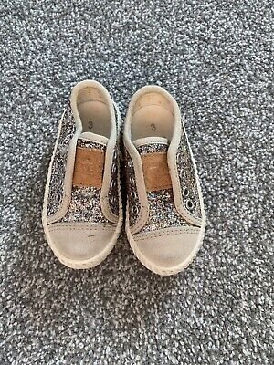 Glitter Silver NEXT Trainers Girls Shoes Infant UK Size 3