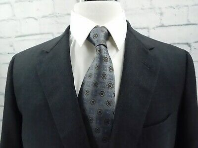 Brooks Brothers Brooksease 100% Wool Blazer Jacket Charcoal Gray Houndstooth 42R