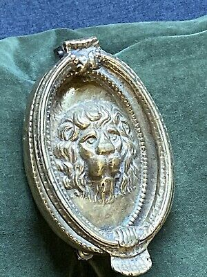 Vintage Brass Door Knocker, Iconic Lions Head
