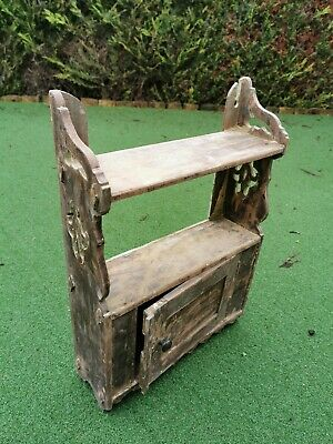 Antique Arts And Crafts (?) Wooden Wall Cabinet/Cupboard/Shelf