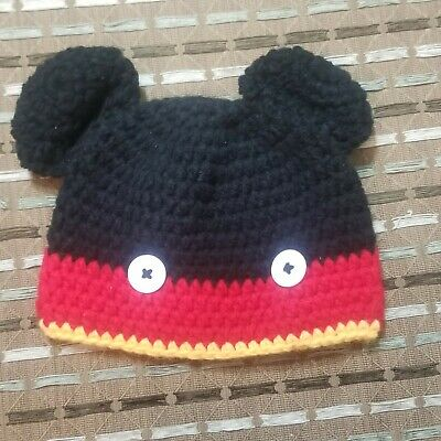NEW Toddler Kids Baby Boys Mickey Mouse Winter Knit Cap Hat 6-24 mos 1-2-3-4