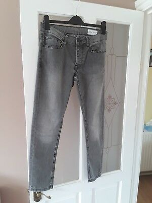 Boys BLACK Jeans W32/l30 Super Skinny BY Denim Co