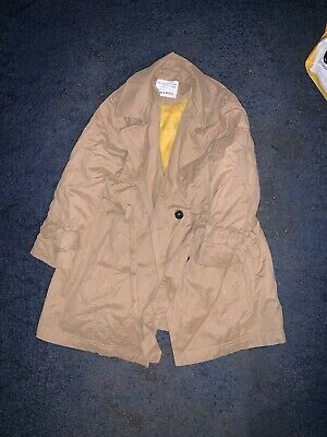 Girls zara Beige Trench Coat With Button And Belt Age 6 Years