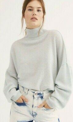 New $128 Free People FOREVER CASHMERE Ivory Champagne Gray Orange Sweater S M L