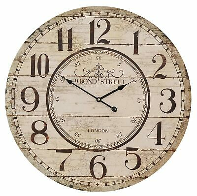 Wall Clock 49 Bond Street 60cm Shabby Chic Country House Vintage