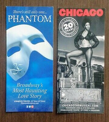 Phantom of the Opera 25th Chicago 20th Anniversary NYC Broadway brochures