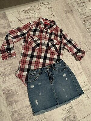 Girls Age 7 Bundle. Gap Kids Skirt And YD Checked Tunic Top