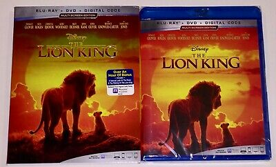 The Lion King (2019) Blu Ray + DVD + Slipcover - NEW -