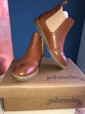 Mini Boden girls tan leather chelsea boots BNIB size 32/13