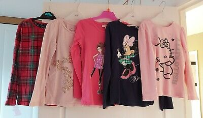 💕 Girls Tops x6 Minnie Mouse/Hello Kitty/ Next Age 5-6 Years 💕