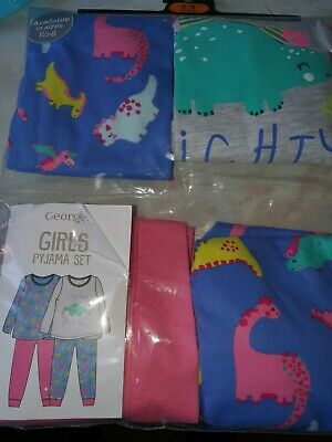 Bnib Girls Dinosaur Pyjamas 2-3 Years 2 Pairs