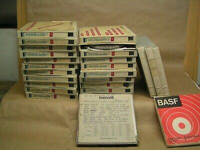 "25 ea. 7"" reel to reel tapes, SONY, MAXELL & BASF....... RARE hard to find these"