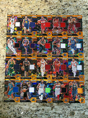 2019-20 Panini Prizm Orange Cracked Ice Sensational Swatches - Pick 1 From List