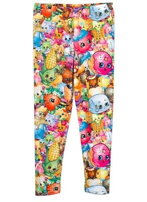 Girls Shopkins Character Multicolour Leggings. Age 9-10 Years New and Tagged