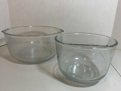 OSTER Kitchen Center Regency Clear Glass Mixing Bowls Original Replacement OEM