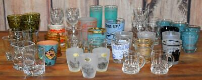 Lot of 40 Souvenir Glass Shot Glasses Collection US States Mid Century ++
