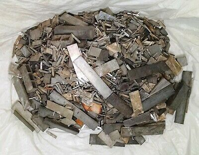 25 pounds Linotype metal, Hard Lead Spacer Scrap, Printer Type, Bullets Casting