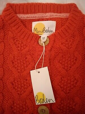 Mini Boden Girls Cardigan (red) Age 7-8 *NEW*
