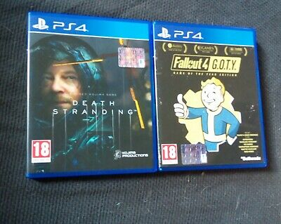 PS4 Death Stranding + Fallout 4 Game of the Year Edition GOTY PAL ITA Italiano