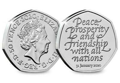 **Official UK 2020 Brexit 50p Coin PRE ORDER Released 31st January*** UNC COIN