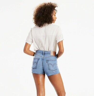NEW LEVI'S WOMENS High Rise Wedgie Fit Cutoff Denim Shorts