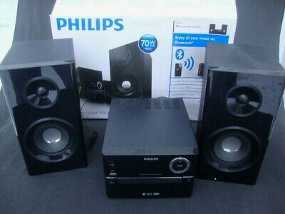Philips Bluetooth Wireless Micro Music System Stereo Speakers Mp3 CD USB Iphone